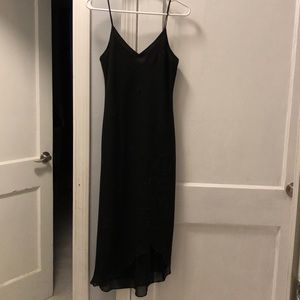 Black dress elegant and worn only once!